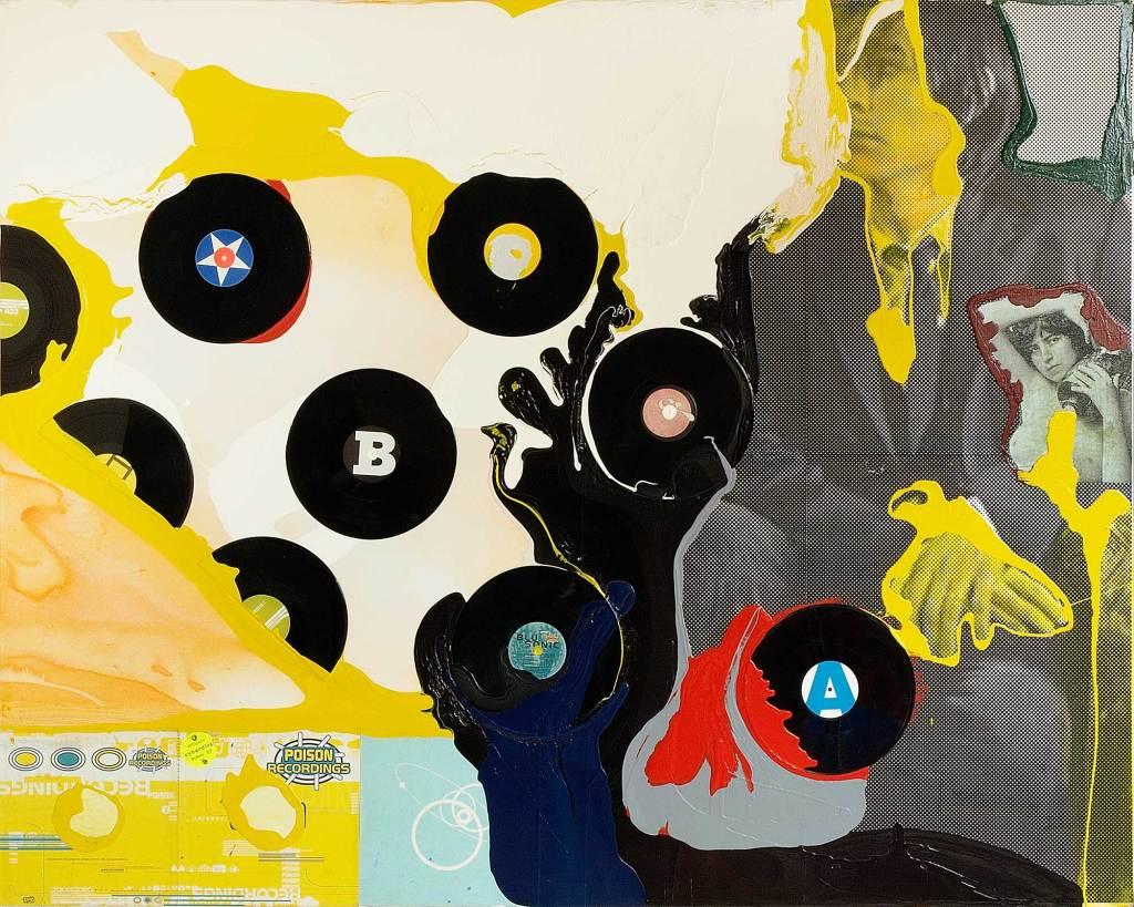 Klaus Killisch, poison recordings, 2003, mixed media on canvas, 160x200cm
