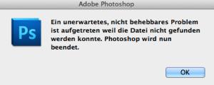 Fehlermeldung beim Speichern auf einem Fileserver