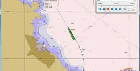 screenshot video Rotta della Costa Concordia su dati AIS - naufragio Isola del Giglio
