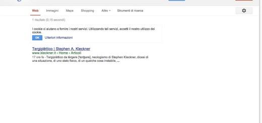 screenshoot pagina google ricerca tergiplettico