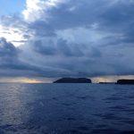 isola di Ventotene sotto un diluvio