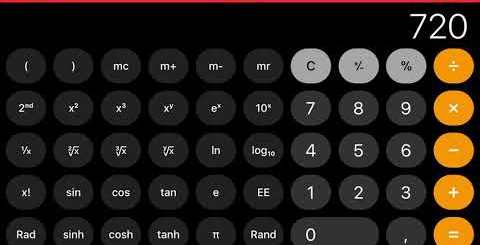 screenshoot calc app iPhone iOS 11
