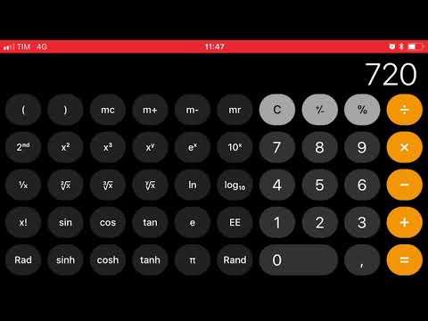 screenshoot calc app iPhone iOS 11