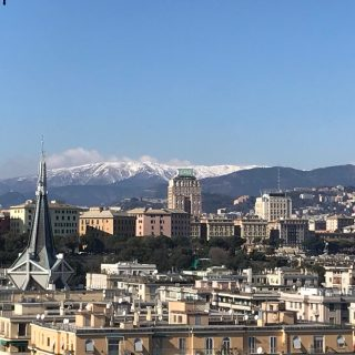 Fotografia vista de la Foce di Genova da via Trento