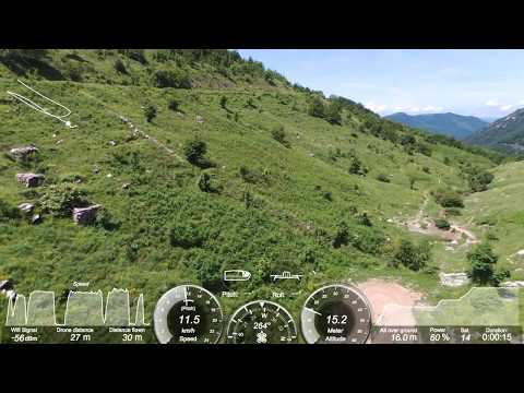 Parrot Bebop 2 Drone FPV flying with VR Glasses