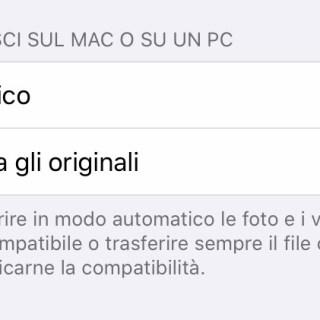 Screenshot Trasferimento sul Mac o sul PC