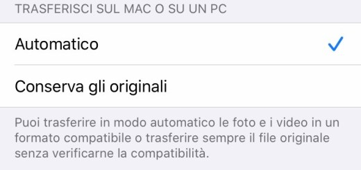 Screenshot Trasferimento sul Mac o sul PC