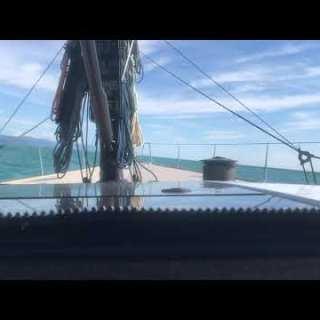 Screenshot video Rollio a bordo di un Mylius 80 durante trasferimento