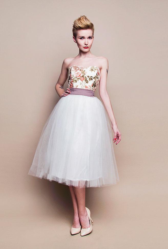 Standesamtkleid Kurz Rosa Mit Blüten Grünes Standesamtkeid Gürte Landhaus Stil Tüllrock