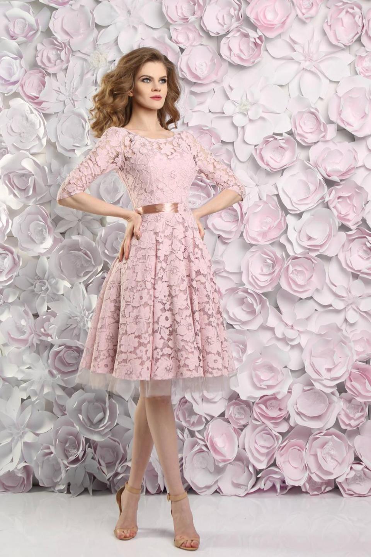 Standesamtkleid Brautkleid Kurz In Rosa