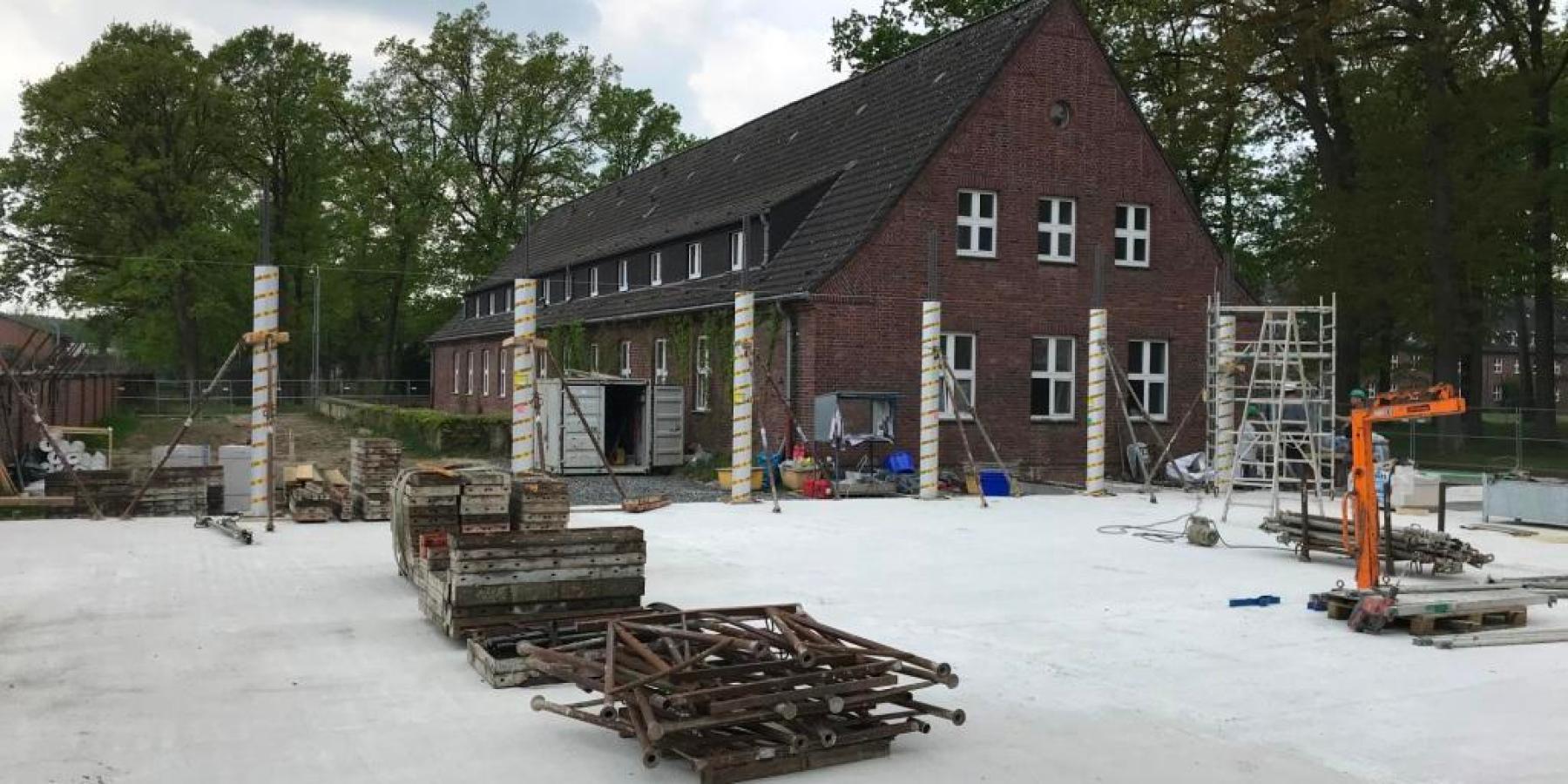 Baustelle York-Quartier: Anbindung an den Angelsachsenweg