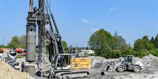 Heroldstraße: Der letzte Bohrpfahl ist im Boden