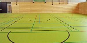 Vandalismus in Sporthalle