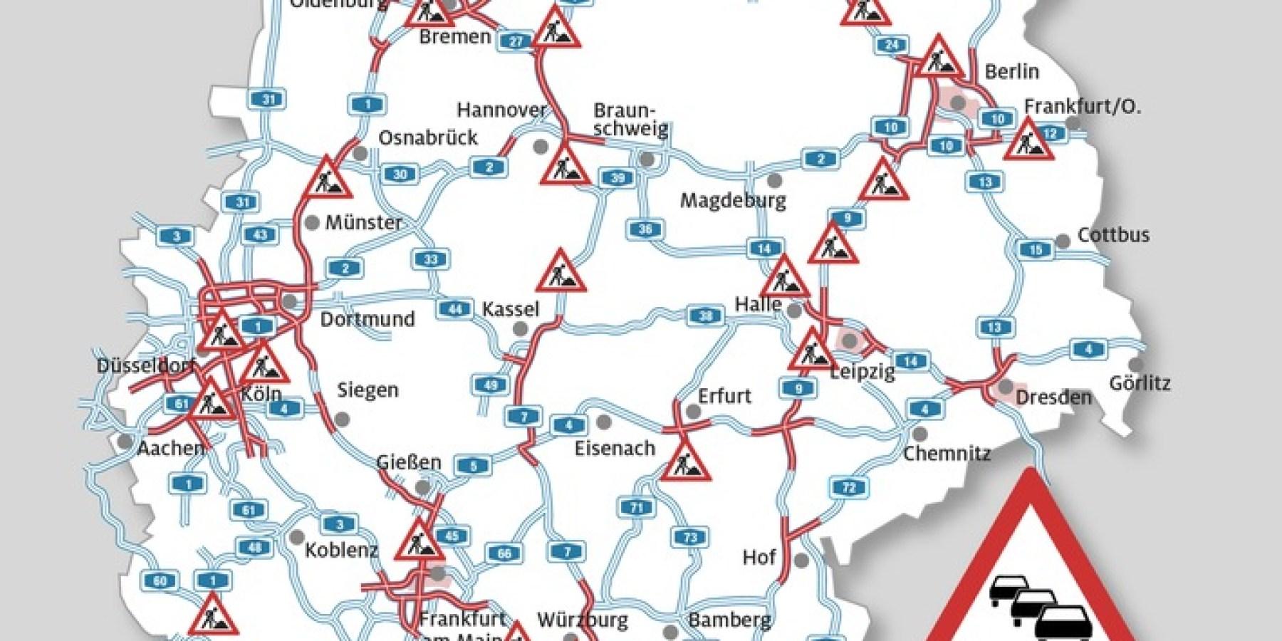 Staustufe Rot für alle Richtungen – Wende auf den Autobahnen