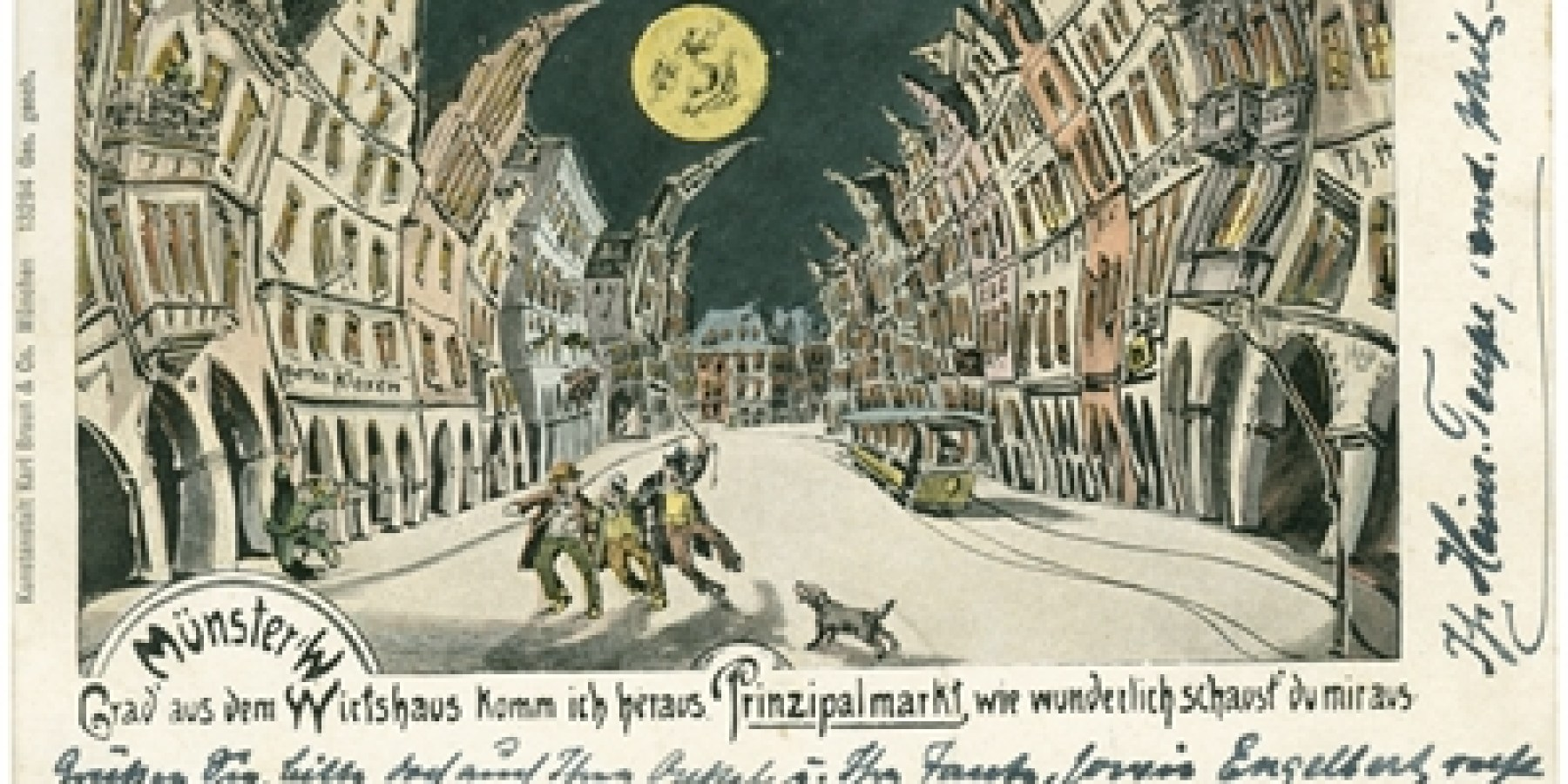 Der Prinzipalmarkt auf alten Postkarten