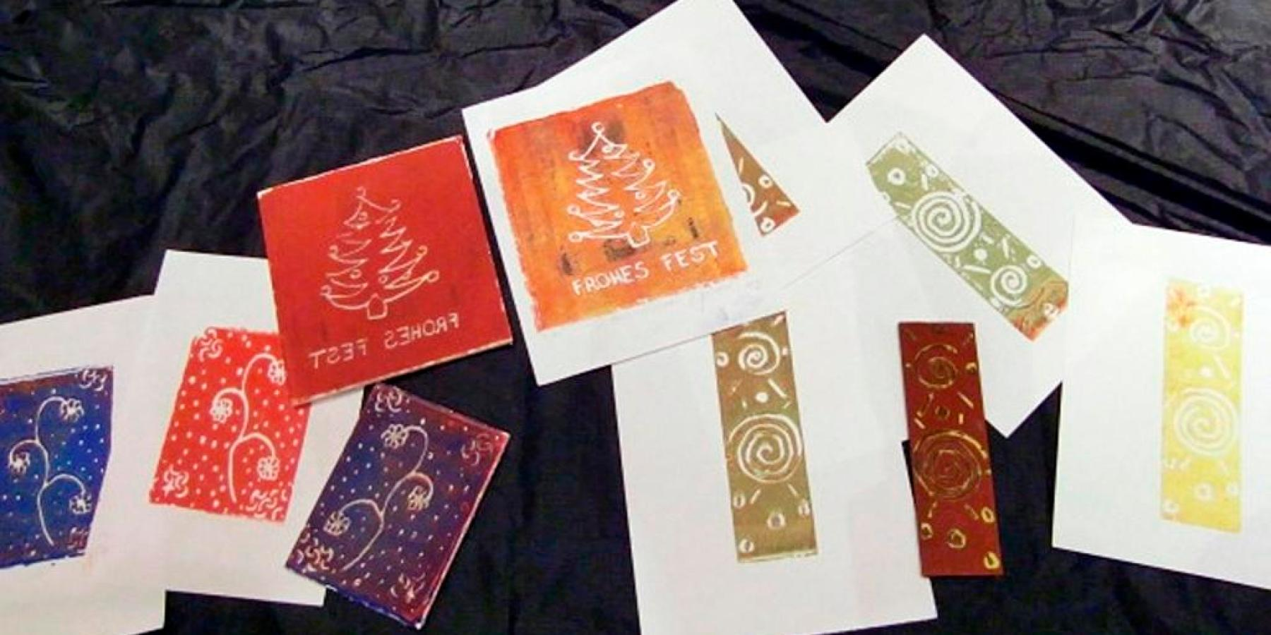 Druckwerkstatt im Stadtmuseum: Weihnachtskarten selbst gemacht