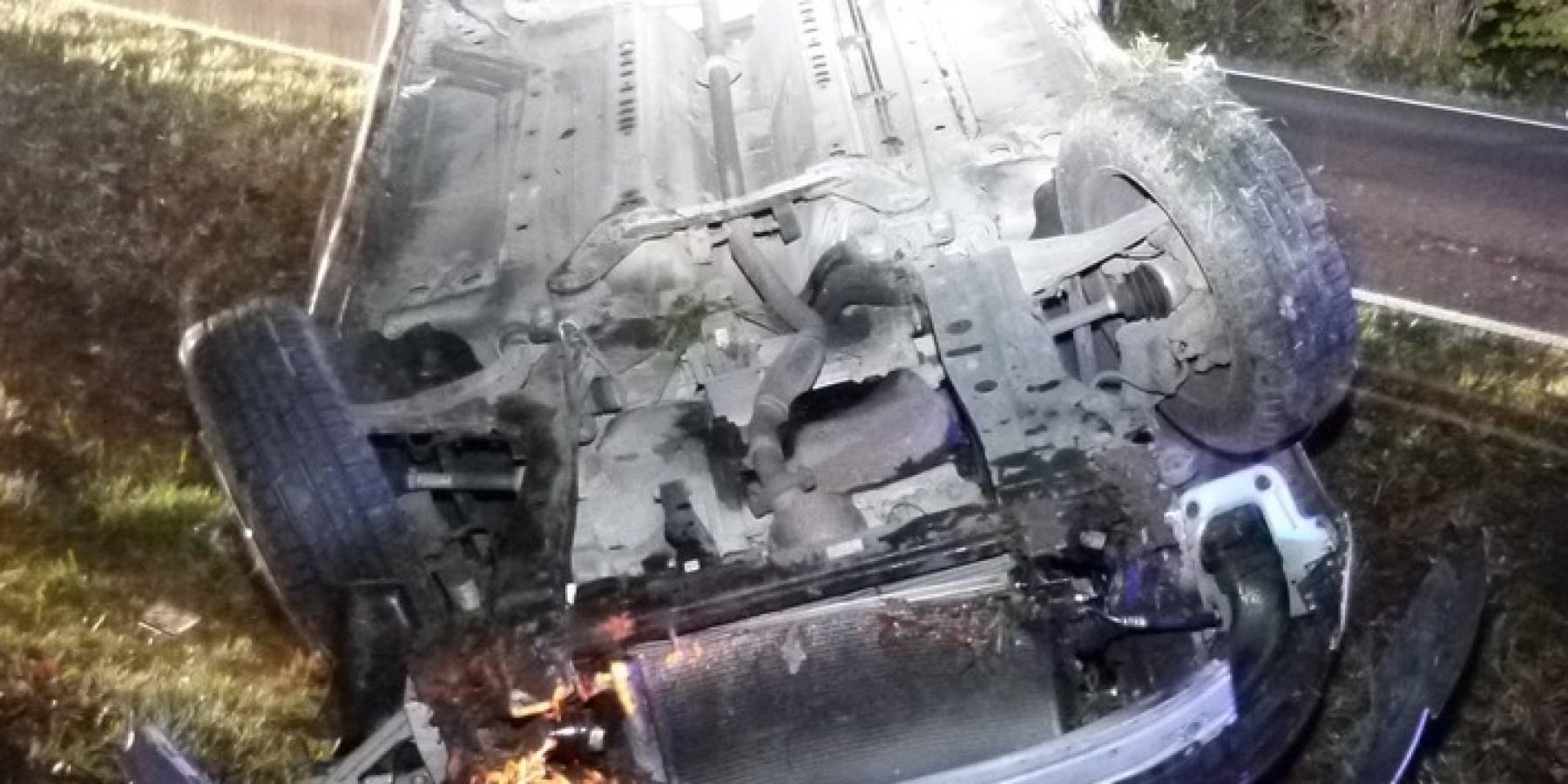 Auto überschlägt sich – 33-Jähriger nach Alkoholunfall schwer verletzt