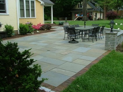 square paver stone patio ideas Landscaping, Outdoor Lighting & Hardscaping Designs