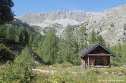 Kleine Jagdhütte vor dem Schneibstein