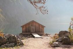 Ein Bootshaus am Obersee