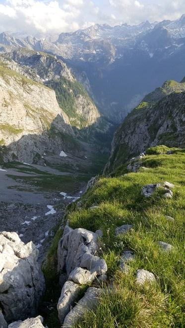 Blick über das Landtal zum Steinernen Meer