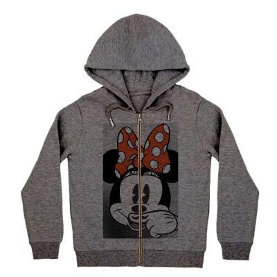 LITTLE ELEVEN PARIS hooded sweatshirt minnie dark grey