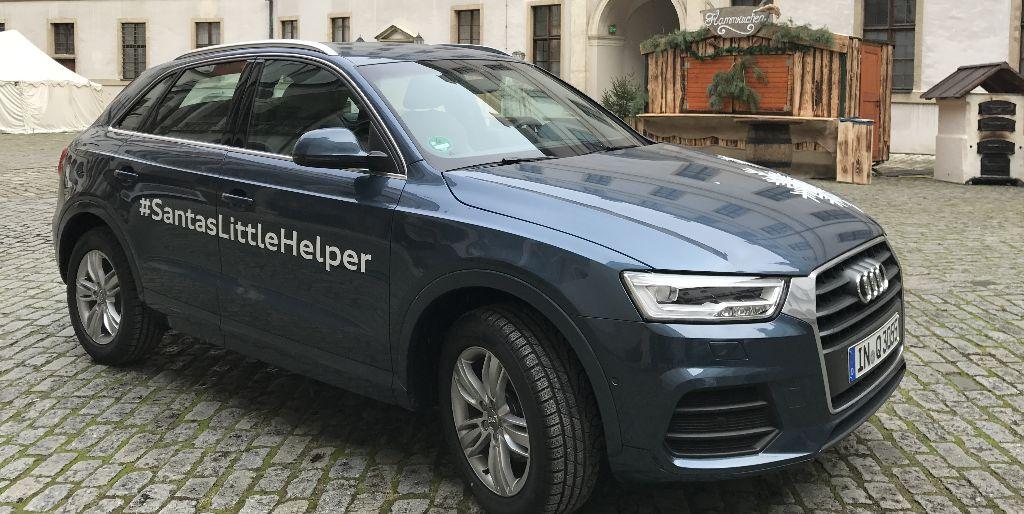 Der Audi Q3 im Neuburger Schloß