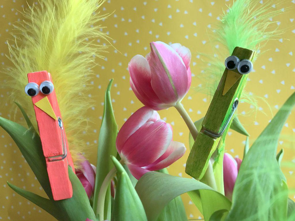 Frühlingsdeko basteln mit Kindern