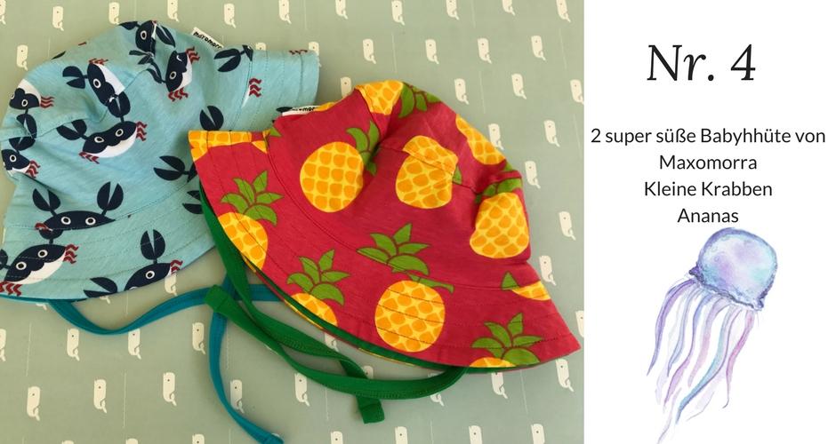 Maxomorra Babyhüte Krabben und Ananas