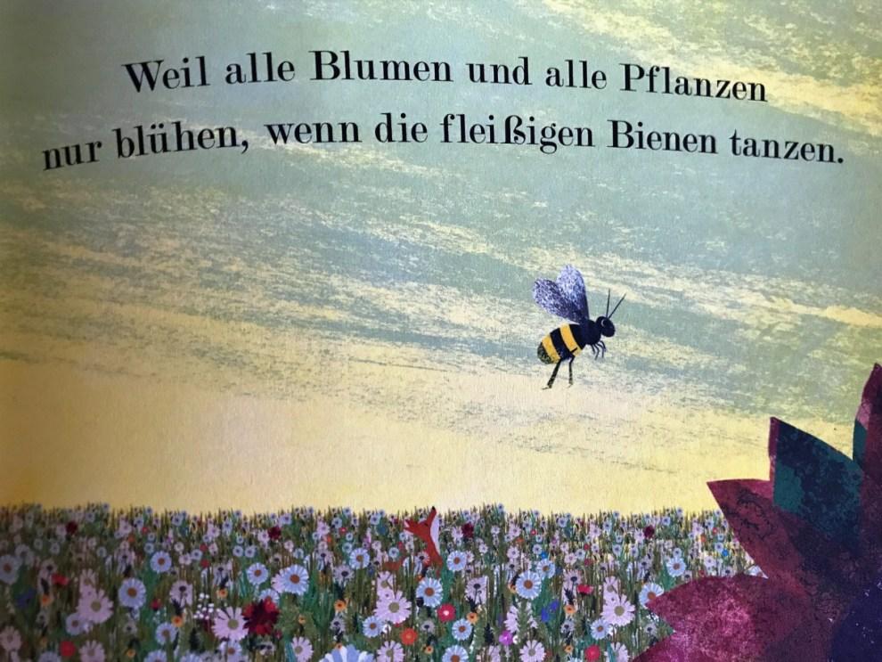 Biene fliegt , Zeichnung aus Bienen, Kleine Wunder der Natur