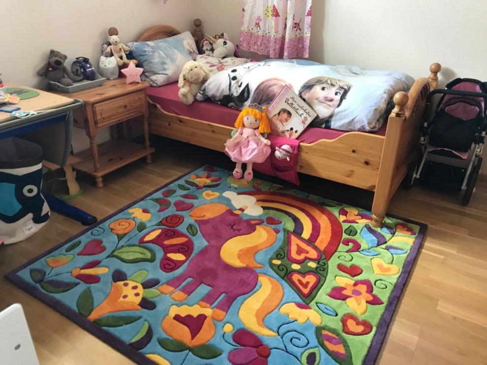 Einhorn Teppich im Kinderzimmer