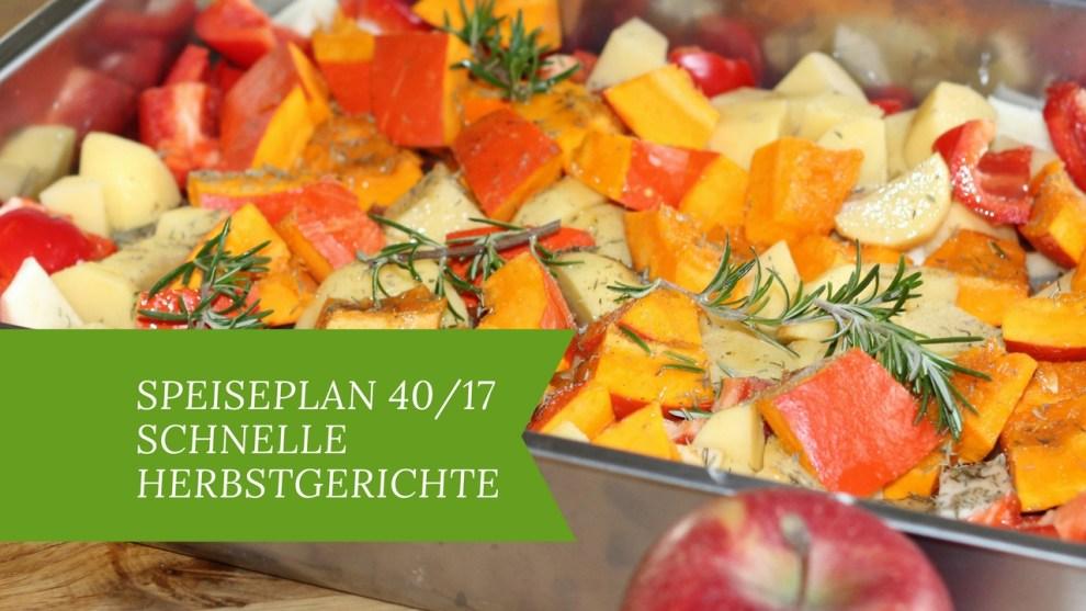 schnelle Herbstgerichte für die Familie