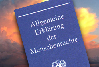 """Die """"Allgemeine Erklärung der Menschenrechte"""" in Buchform"""