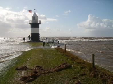 Sturmflut im April 2009 (Foto: Ute & Werner Stelling)
