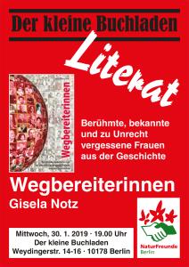 Plakat Lesung Wegbereiterinnen