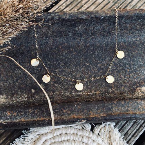 Plättchenkette (gold)