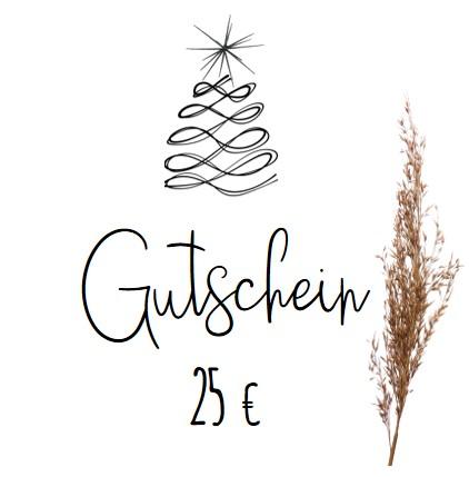Weihnachtlicher Geschenkgutschein 25,-