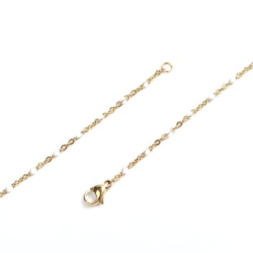 Sommerkette gold-weiß 45 cm