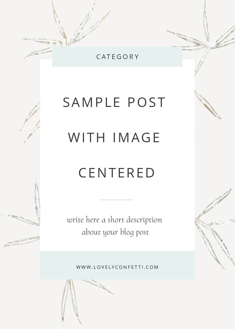 Sample post with centered image