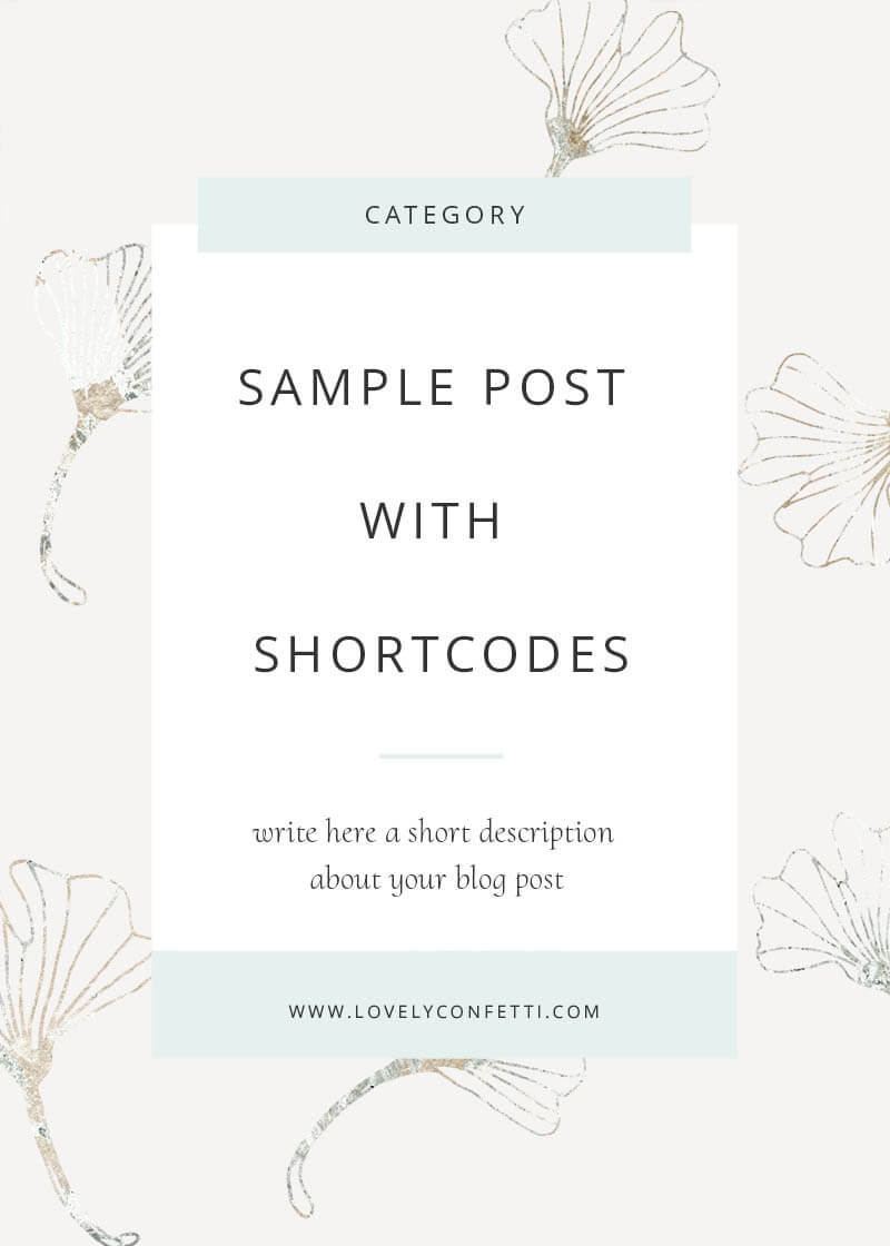 Sample post with shortcodes
