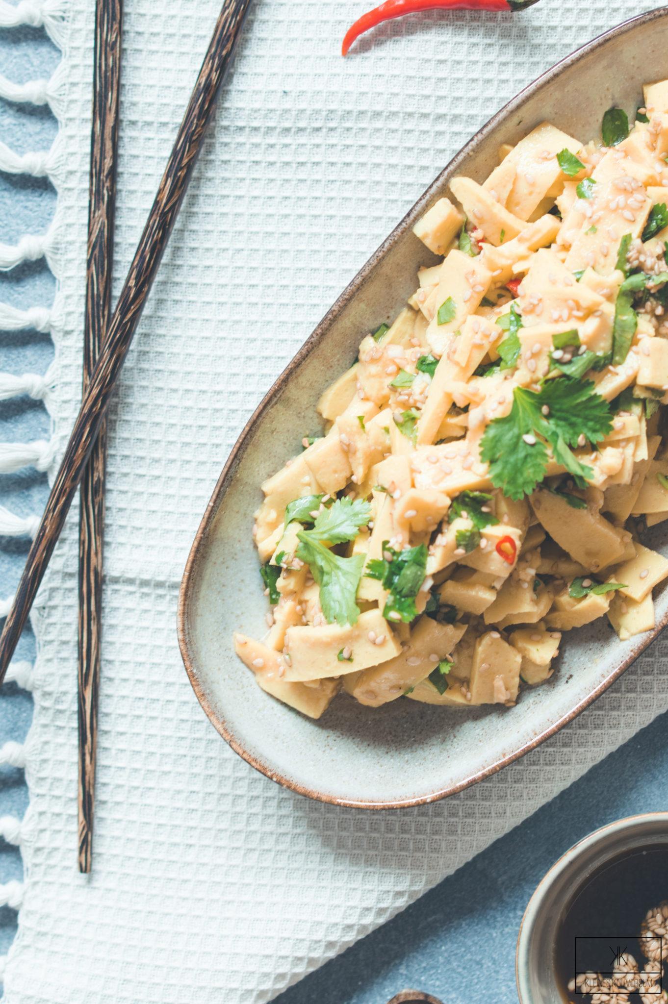 Shan Tofu Salat - Tohu Thoke - Kleines Kuliversum