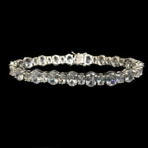 Category  Jewelry   Gifts   Kleinfeld Bridal     Crystal Bracelet Silver by Malis Henderson Headpieces   Accessories
