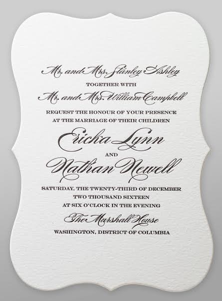 Wedding Invitation Wording Both Pas As Beautiful Ideas