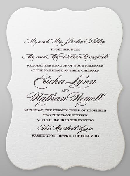 Both Sets Of Pas Hosting Wedding Invitation Wording