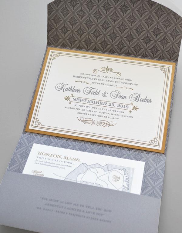 Romantic Wedding Invitations Storybook