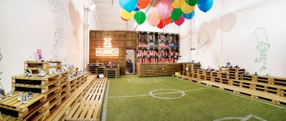 munich kids shoes temporary store in Barcelona