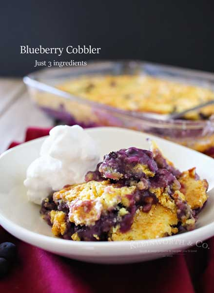 Blueberry Cobbler {Kleinworth & Co}
