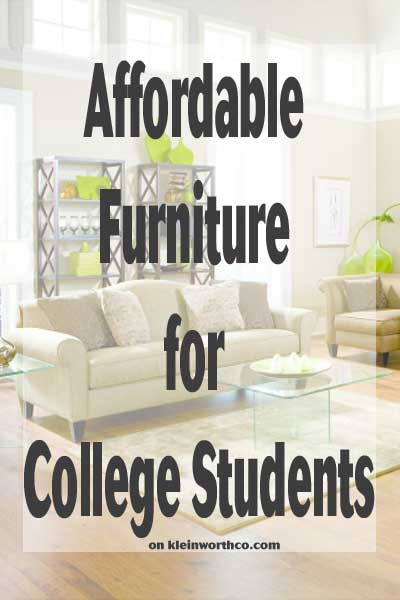 Affordable Furniture For College Students Kleinworth Co