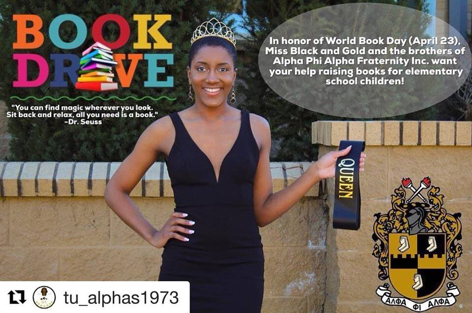 Arkansas District Miss Black & Gold Hosts Book Drive