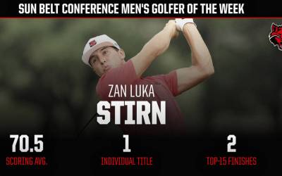 A-State's Stirn Named Sun Belt Men's Golfer of the Week